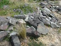 Building reptile habitat , rocks taken from old mine site The Block Berringa