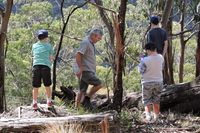 Showing the grand kids the best of nature - Mount cole